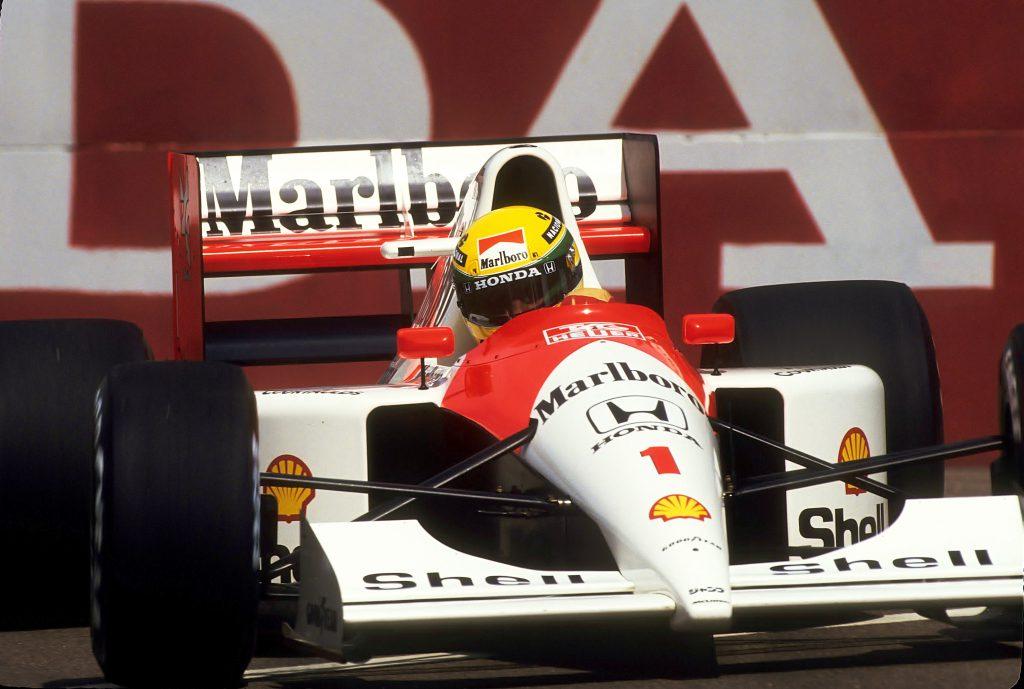 Marcas influenciam pessoas: McLaren de Ayrton Senna com propaganda da Marlboro
