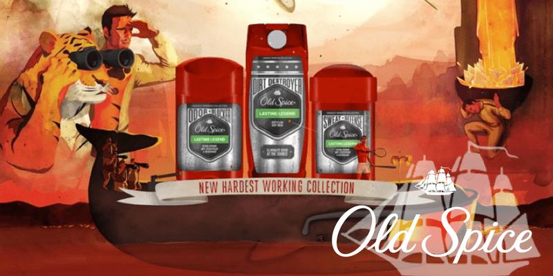 Produtos Old Spice na campanha dos produtos Hardest Working com microinfluenciadores — by Influency.me