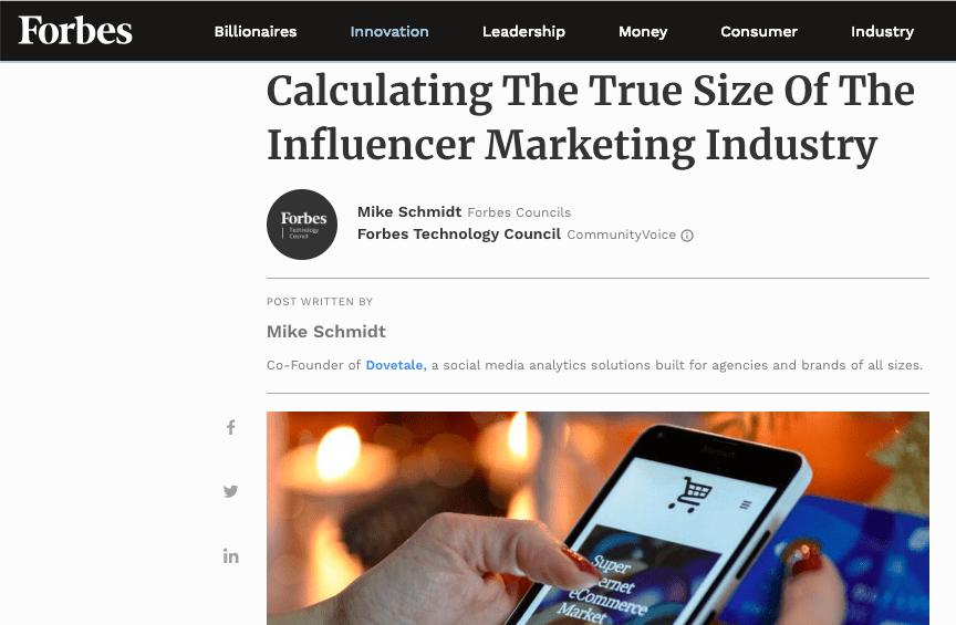 Crescimento do marketing de influência